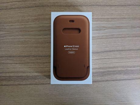 Bolsa em pele da Apple para iPhone 12 mini