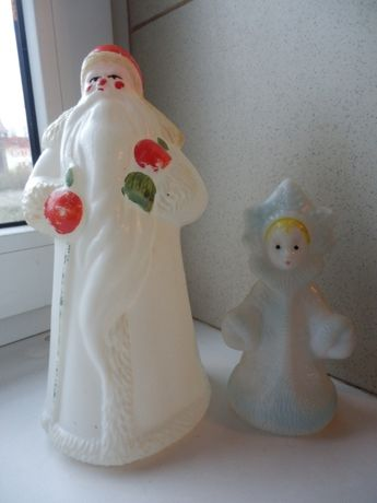 Дед Мороз и Снегурочка,СССР пластмасс