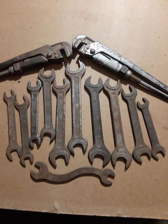 Инструменты СССР, ключи рожковые, помповые, разводные