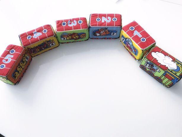 Мягкая игрушка для малышей -Веселый Паровозик на липучках,мягкий поезд