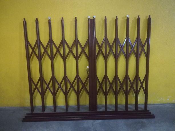 3 grades de segurança em ferro para janelas, tipo lagarta, cor bordeau