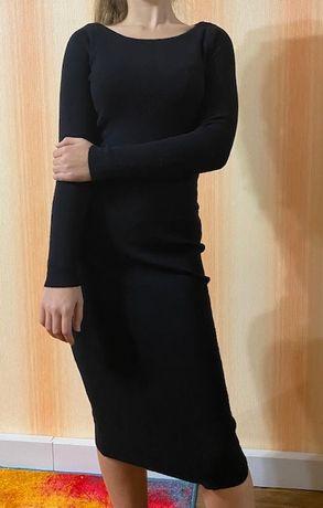Платье с-м черное