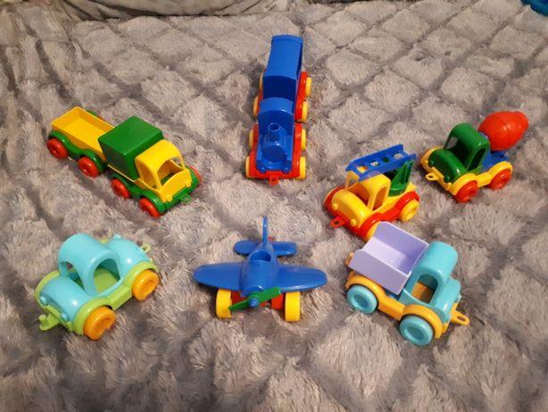 Autka/ samochodziki / pojazdy Wader 9 sztuk