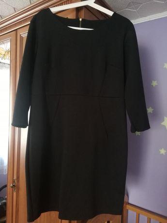 Sukienka czarna pikowana elegancka rozm XXL