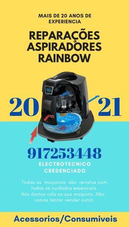 Reparações e manutenções aspiradores Rainbow