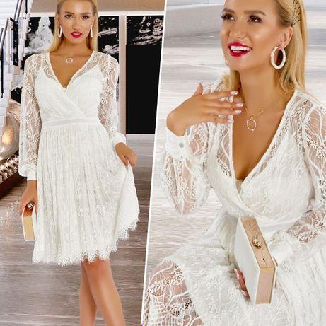 Белое платье + подарок к заказу. Праздничное нарядное кружевное платье