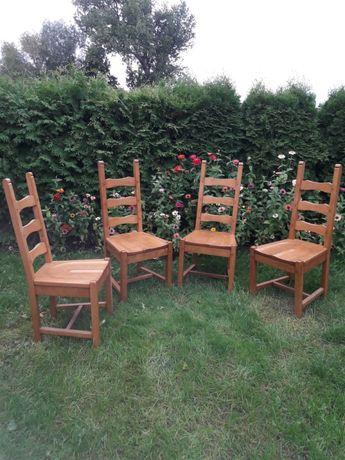 KRZESŁA DREWNIANE Krzesło Komplet solidne