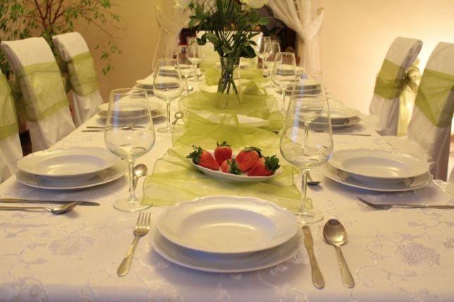 Wypożyczenie / wynajem talerzy ,naczyn, obrusów ,krzeseł,stołów,