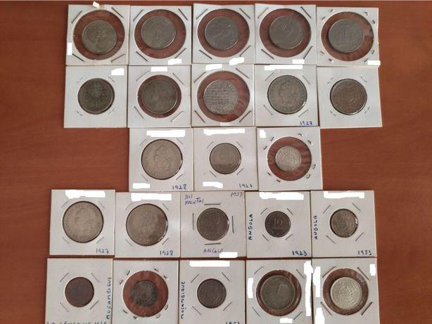 Lote de moedas ex-colónias e Portugal