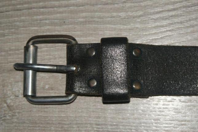 Pas czarny skórzany, zakupiony w Niemczech- długość z klamrą 106cm