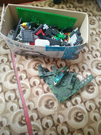 Конструктор Lego коробка, много набор самолёт