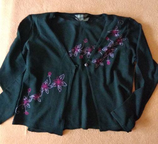 Komplet - bliźniak: bluzka i sweter - rozmiar 40.