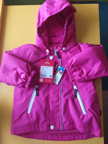 Срочно! Новая зимняя  куртка для девочки Reima р.86+6