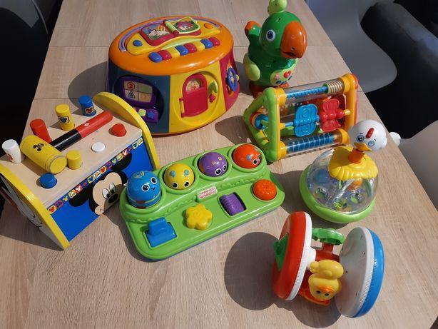 Zabawki, kostka edukacyjna , roler, przebijanka drewniana