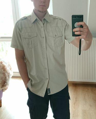 Koszula męska 4F rozmiar M militarna wojskowa z pagonami pustynna tan