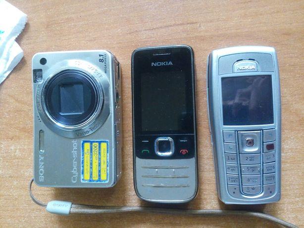 Телефоны,фотоапарат