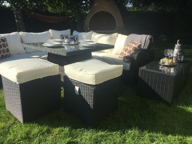 ODESSA zestaw technorattan sofa fotele rama z aluminium narożnik meble