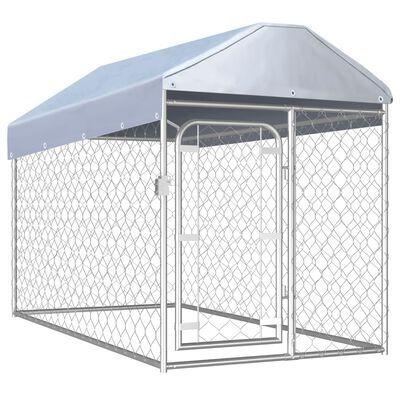 NOVO - Canil de exterior com telhado 200x100x125 cm