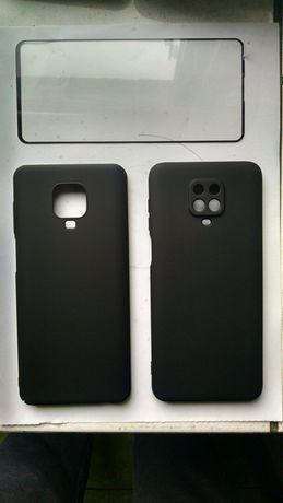 Redmi note 9 pro два чехла и защитное стекло