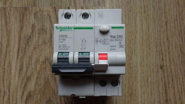Wyłącznik nadprądowy Schneider C60N 16A, 2P, char. C