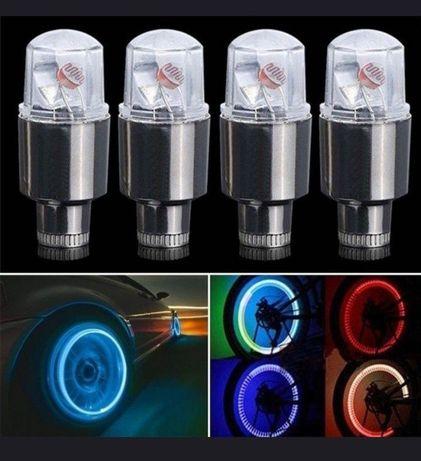 Luzes Leds Vermelhas para Pneus de carros, motas, bicicletas, etc.