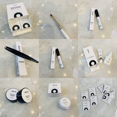 Okis материалы для окрашивания бровей(краска, пинцет, окислитель)