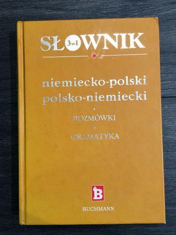 Słownik niemiecko polski, polsko-niemiecki + rozmówki + gramatyka