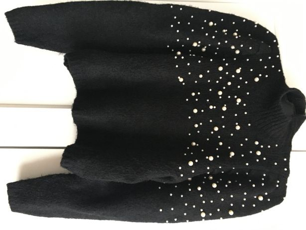 ZARA 2020 sweter perły