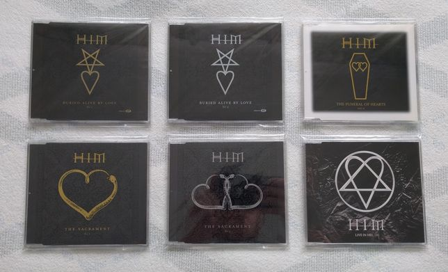 HIM Singles - Buried Alive, Sacrament, Funeral of Hearts, Live in Hel.