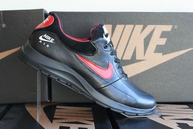 Nike AIR потрясающие кожаные кроссовки-туфли (19-10чер.кожа)