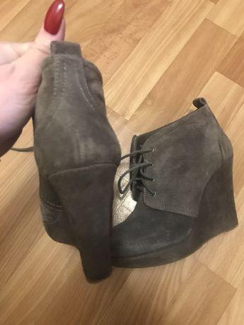 Ботинки замша размер 37