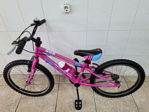Bicicleta de menina roda 20 marca team