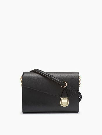 Сумка чорна шкіряна Calvin Klein, кожаная сумка, оригінал із США нова