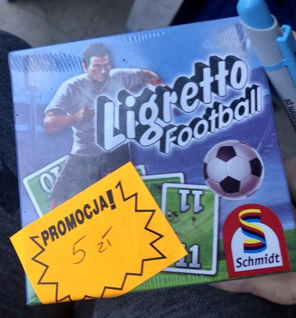 Ligretto piłka nożna gra karciana j.angielski Nowa