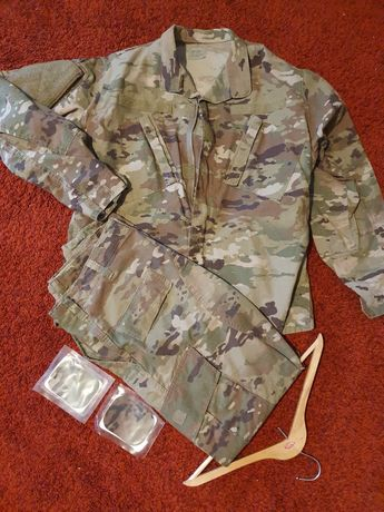 Spodnie i bluza US army ocp scorpion multicam MR, czapka multicam