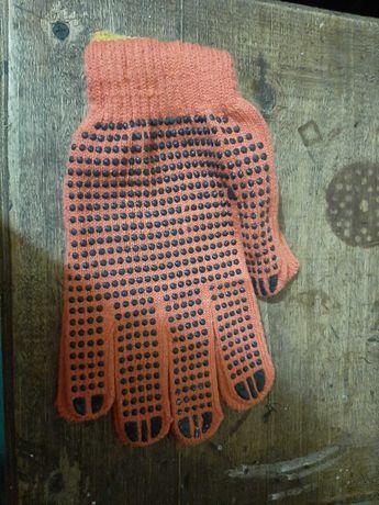 Перчатки рабочие, строительные, трикотажные, х/б