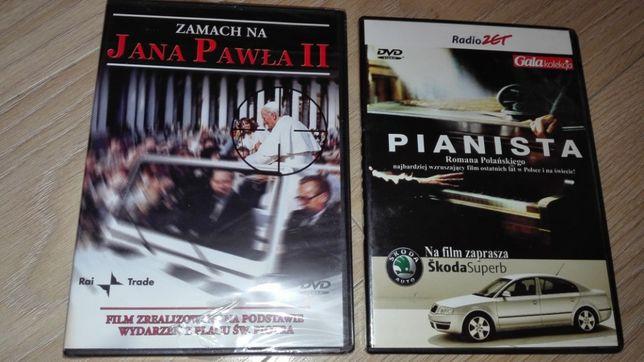 Zamach na Jana Pawła II (nowy zafoliowany] i Pianista - Filmy DVD