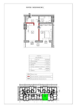Mieszkanie o pow. 46,62 m2. Odstąpię rezerwację