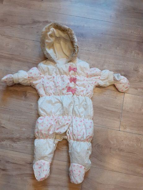 Next Baby przepiekny kombinezon zimowy dla dziewczynki 62 cm
