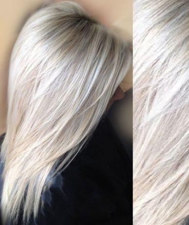 Окрашивание/покраска волос. Балаяж, Шатуш. Выход из черного в Блонд.