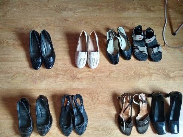 Pantofle skórzANE rozmiar 40,37,36