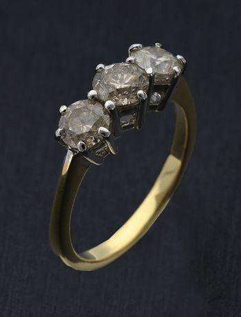 Pierścionek z brylantami 1,50 ct złoto pr. 750 (18K) PRESTIGE
