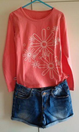Conjunto blusa Petit Patapon e calção Zara