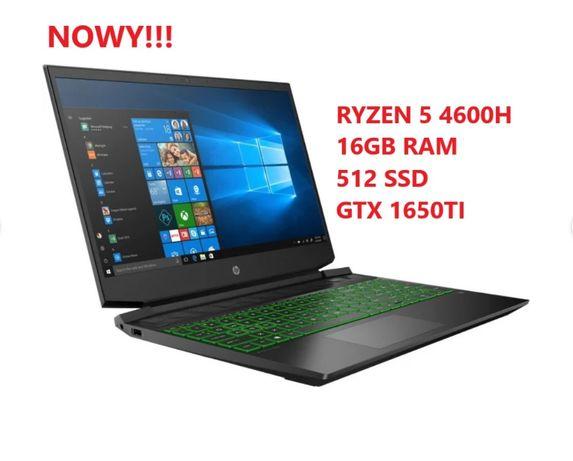 NOWY!HP Pavilion 15 Ryzen 5 4600H 16GB RAM 512 SSD GTX 165TI 144Hz GW