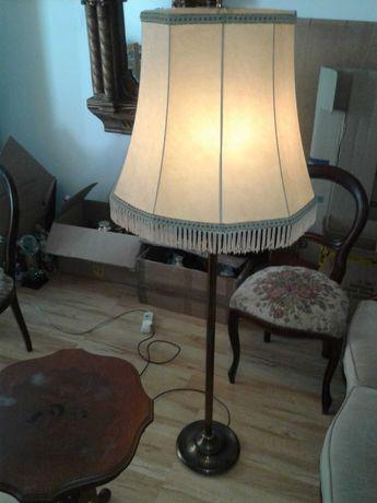 Lampa stojąca podłogowa mosiądz