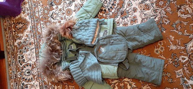 Зимний комплект детской одежды на мальчика