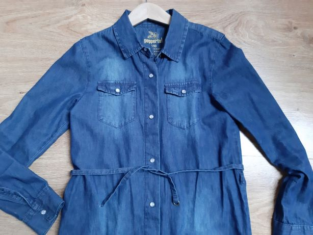 sukienka jeans r.140