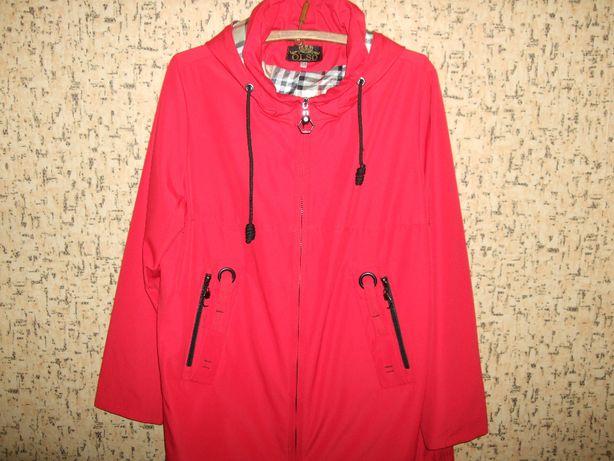 Шикарная легкая куртка, плащ, ветровка Olso р.56-58