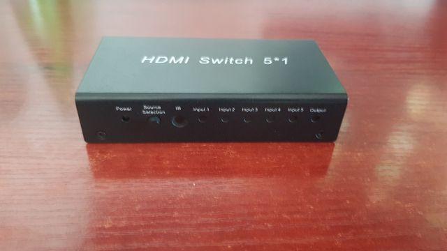 HDMI Switch 5 x 1, zasilanie +DC 5V
