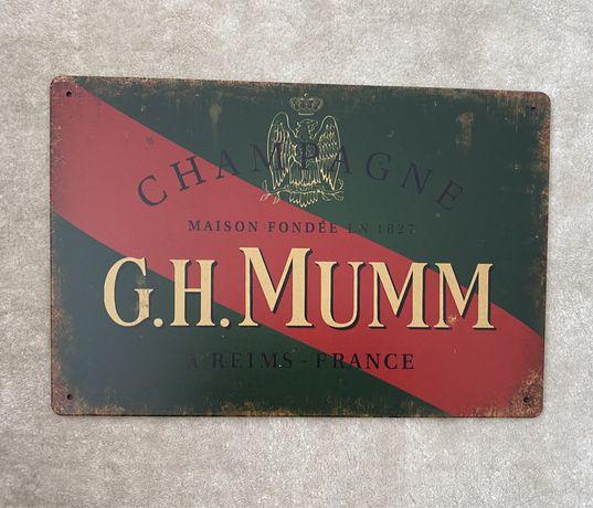 G. H. MUMM Champagne| Placa Metalica Decorativa